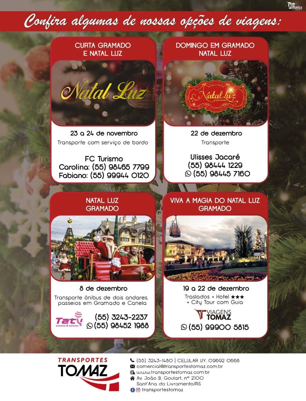 Viaje para Gramado, época do tradicional e maravilhoso Natal Luz!
